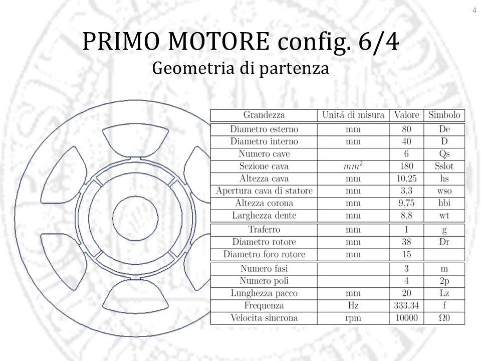 PRIMO MOTORE config. 6/4 Geometria di partenza
