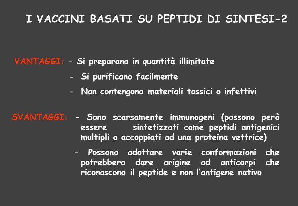 I VACCINI BASATI SU PEPTIDI DI SINTESI-2