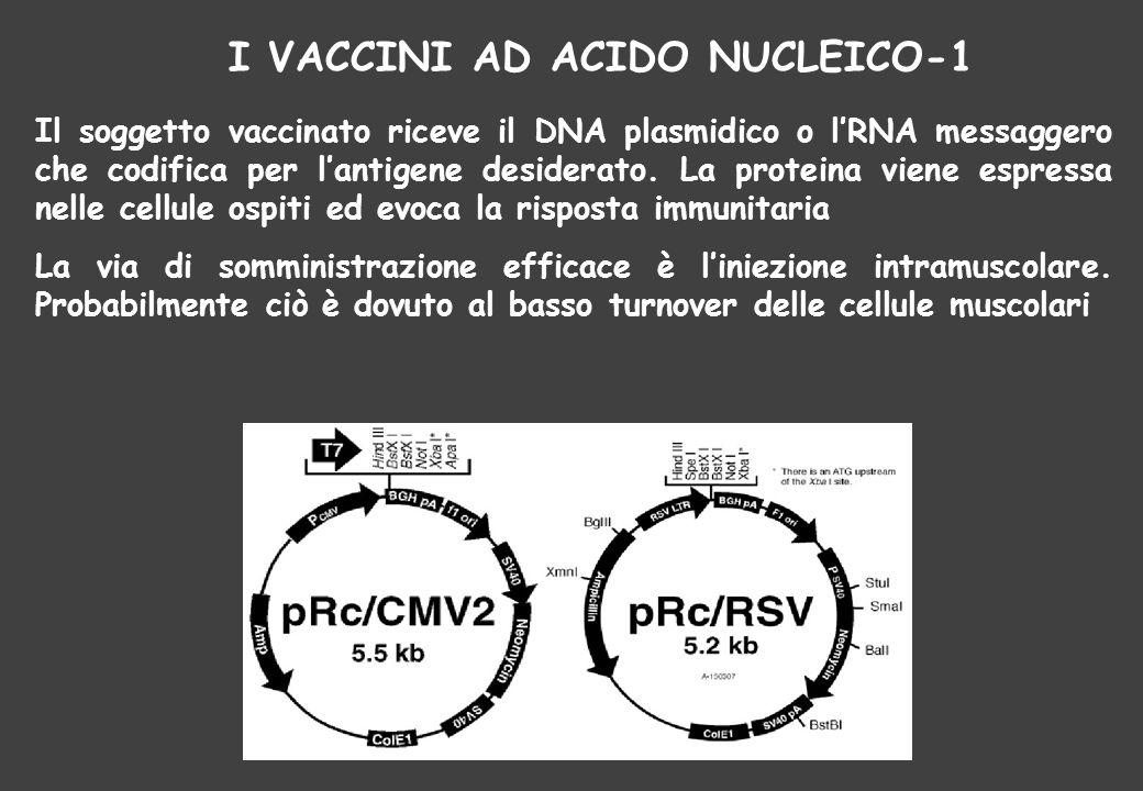 I VACCINI AD ACIDO NUCLEICO-1