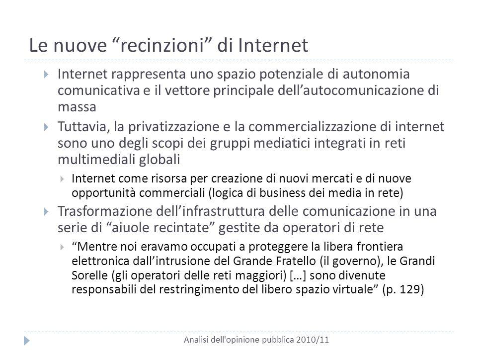 Le nuove recinzioni di Internet