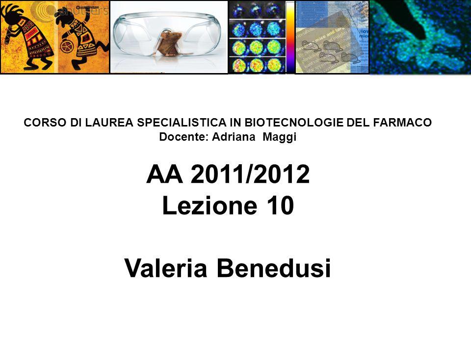 AA 2011/2012 Lezione 10 Valeria Benedusi