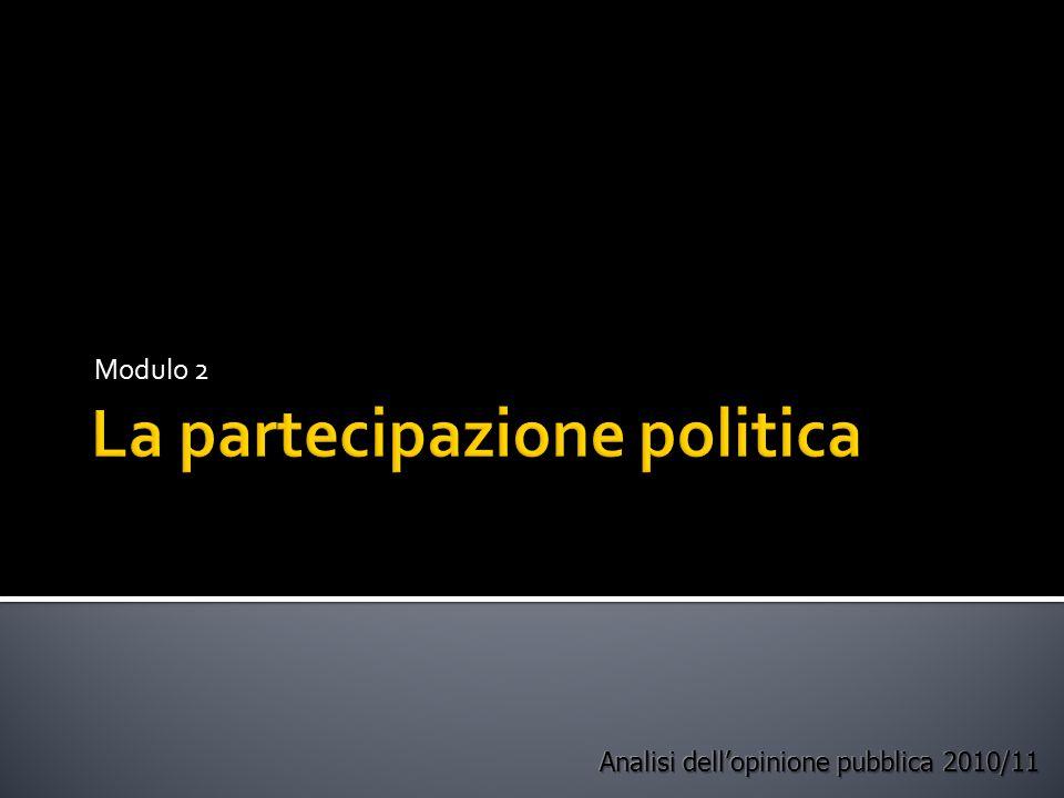 La partecipazione politica