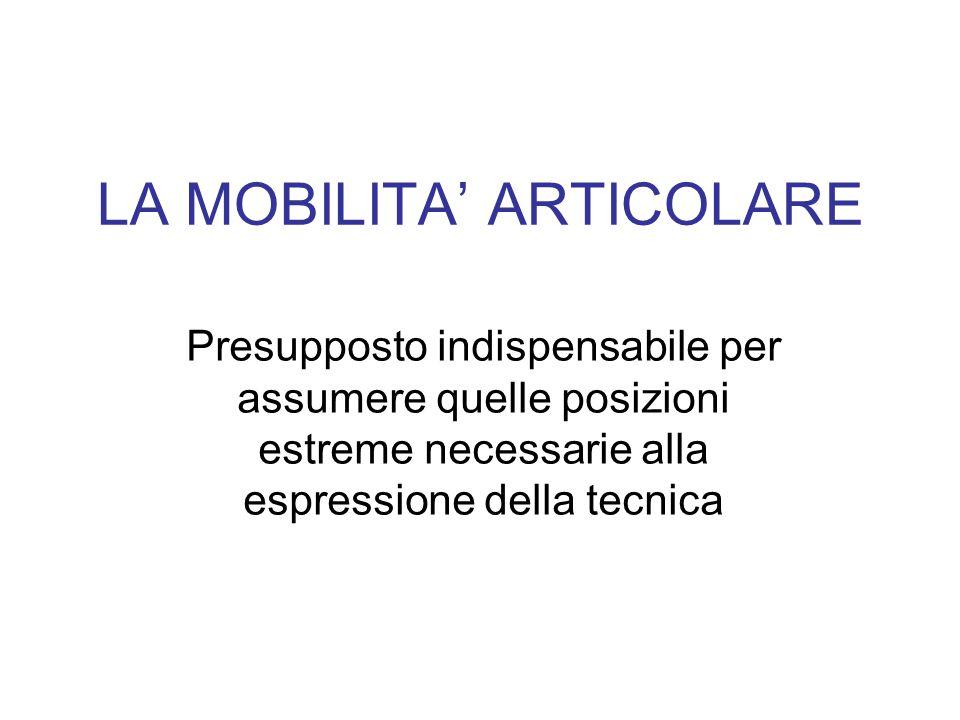 LA MOBILITA' ARTICOLARE