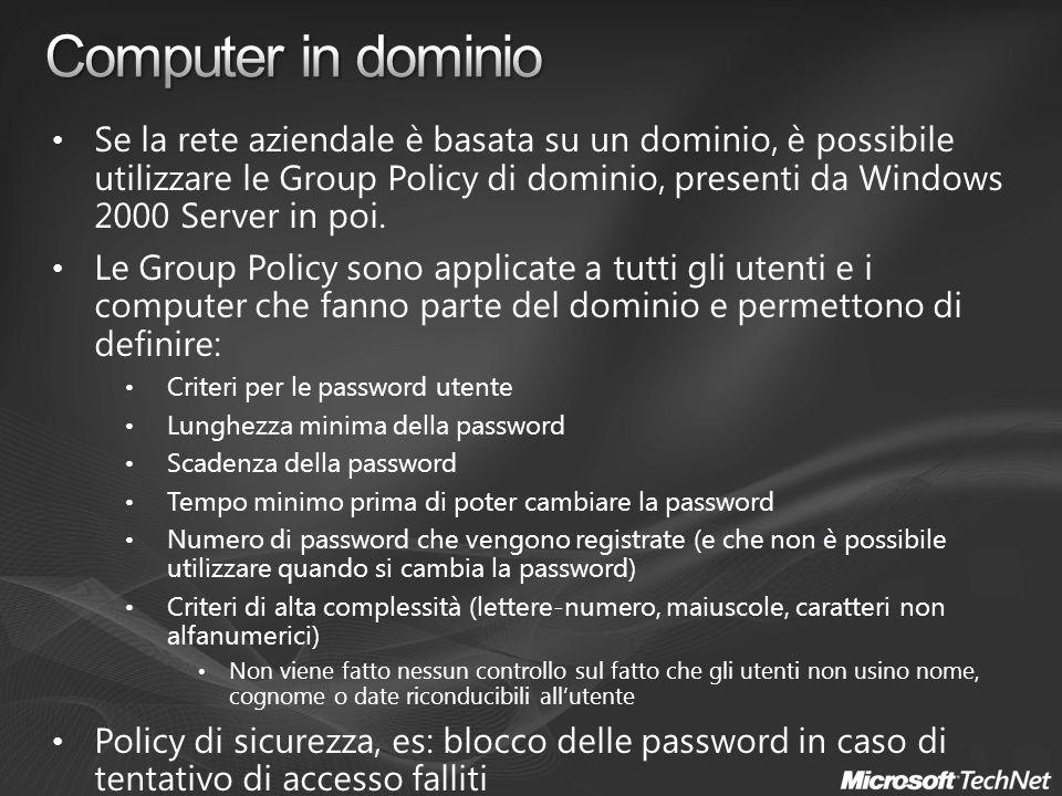 Computer in dominio