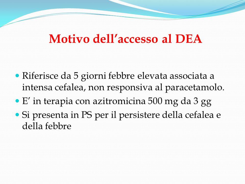 Motivo dell'accesso al DEA