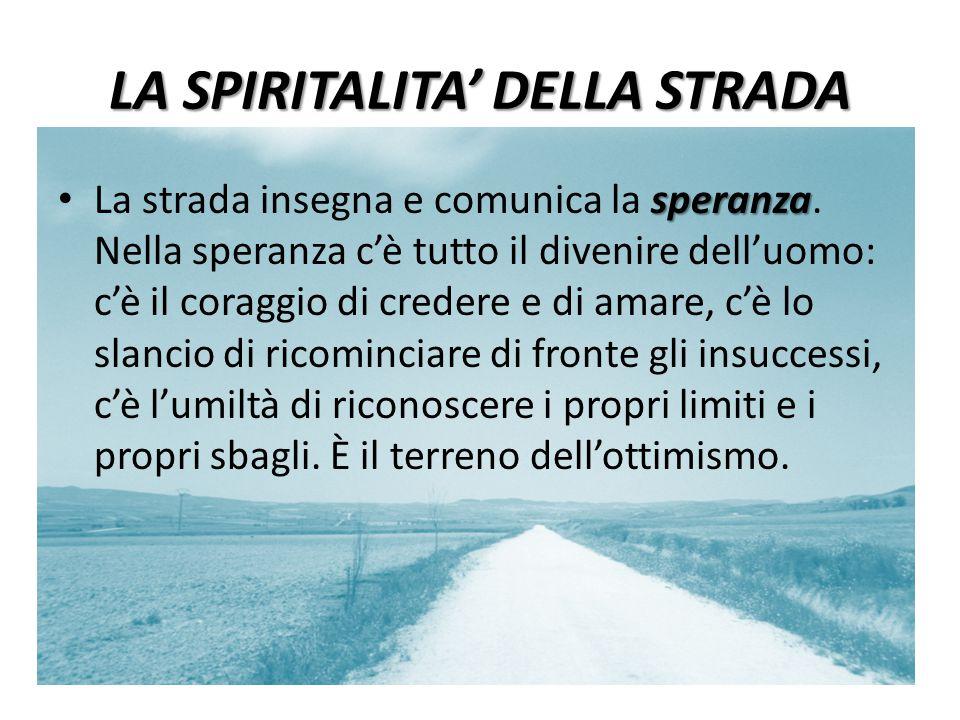LA SPIRITALITA' DELLA STRADA