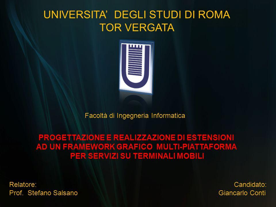 UNIVERSITA' DEGLI STUDI DI ROMA TOR VERGATA