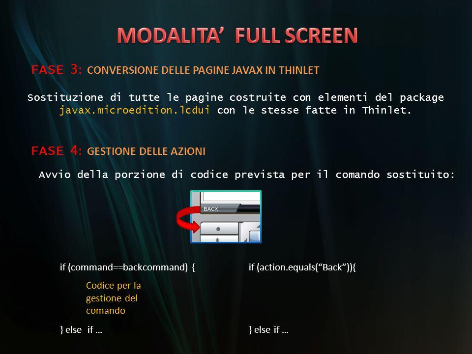 MODALITA' FULL SCREEN FASE 3: CONVERSIONE DELLE PAGINE JAVAX IN THINLET. Sostituzione di tutte le pagine costruite con elementi del package.