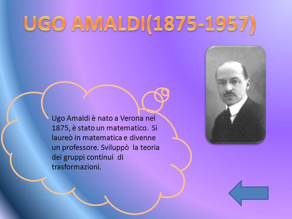 UGO AMALDI(1875-1957)