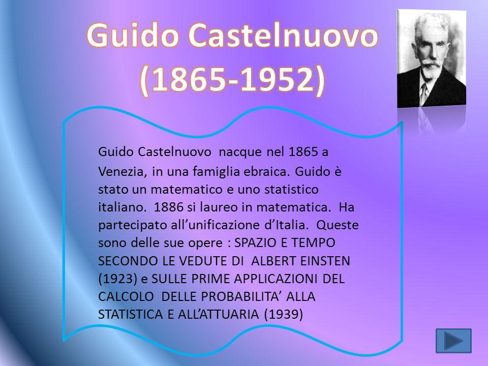 Guido Castelnuovo (1865-1952)
