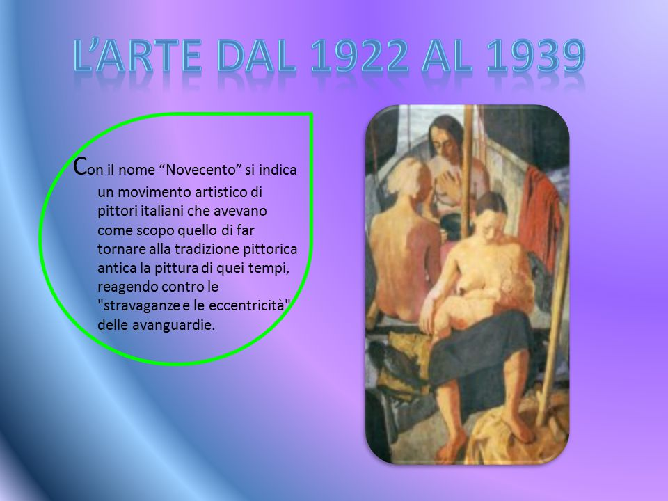 L'arte dal 1922 al 1939