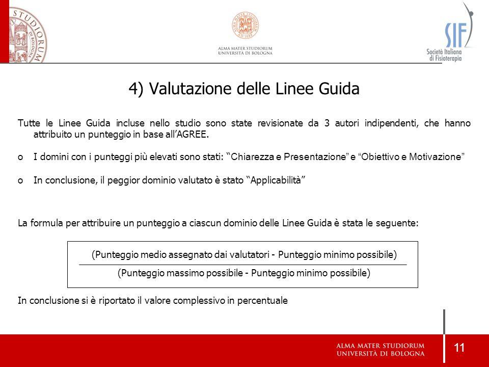 4) Valutazione delle Linee Guida
