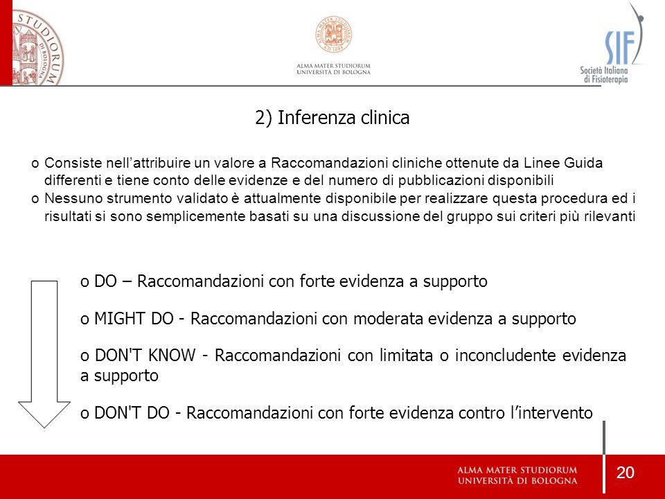 2) Inferenza clinica
