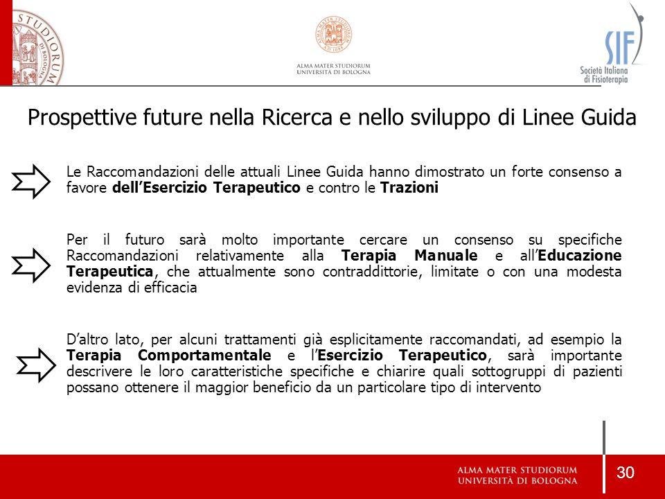Prospettive future nella Ricerca e nello sviluppo di Linee Guida