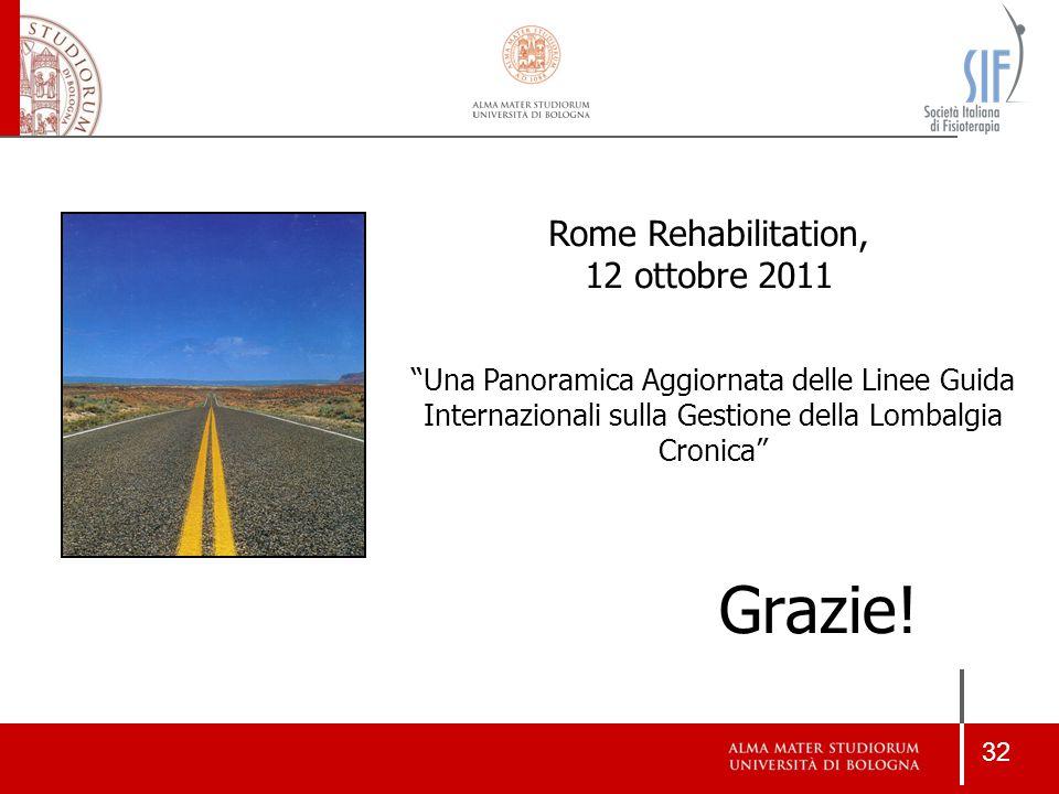 Grazie! Rome Rehabilitation, 12 ottobre 2011