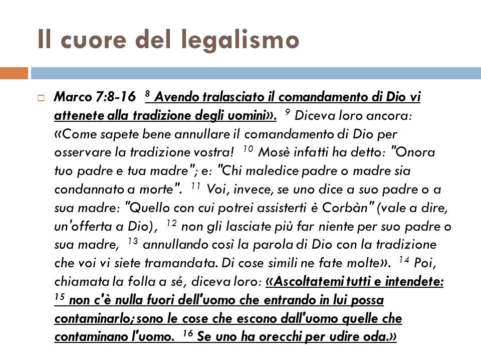 Il cuore del legalismo