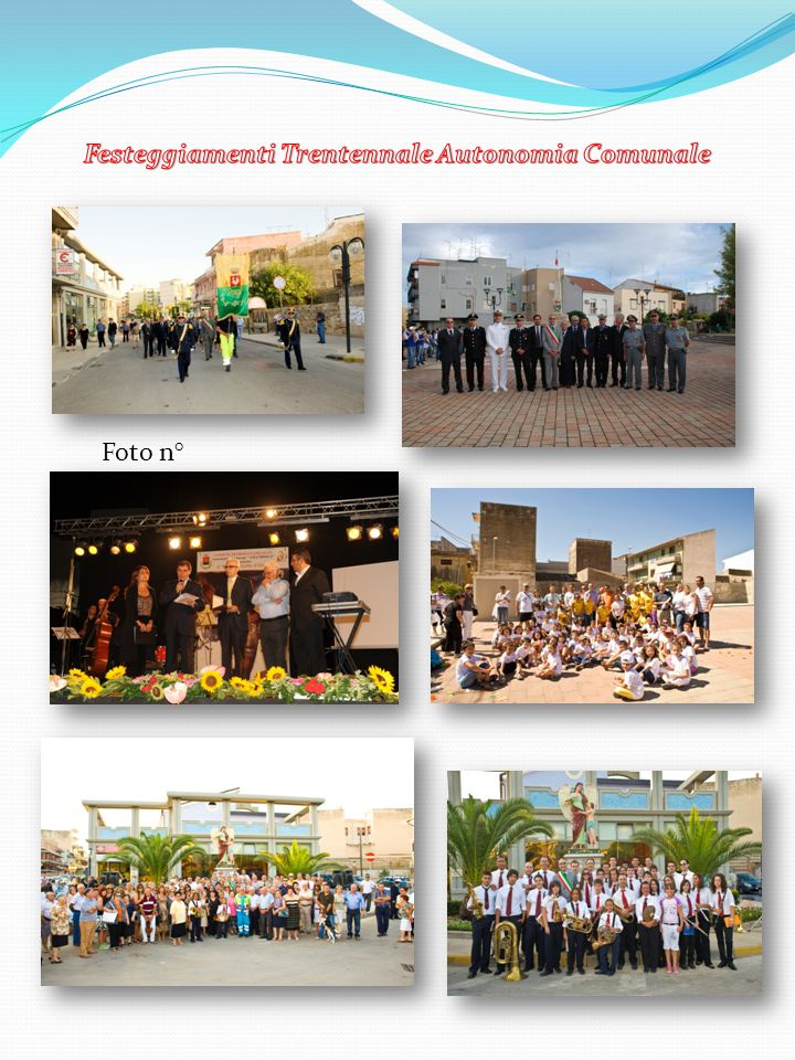 Festeggiamenti Trentennale Autonomia Comunale