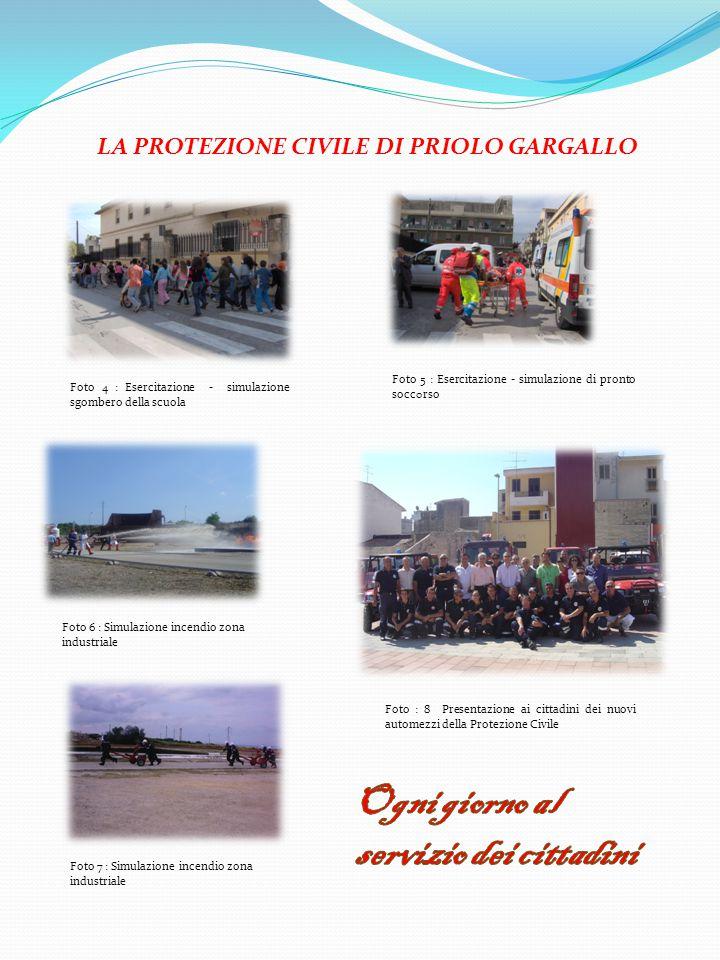 LA PROTEZIONE CIVILE DI PRIOLO GARGALLO