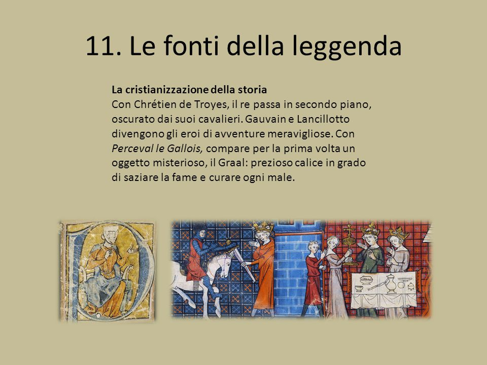 11. Le fonti della leggenda