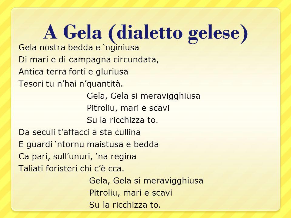 A Gela (dialetto gelese)
