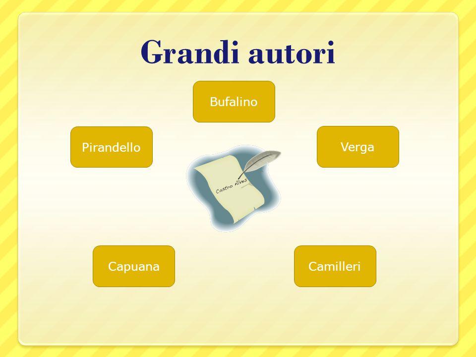 Grandi autori Bufalino Pirandello Verga Capuana Camilleri