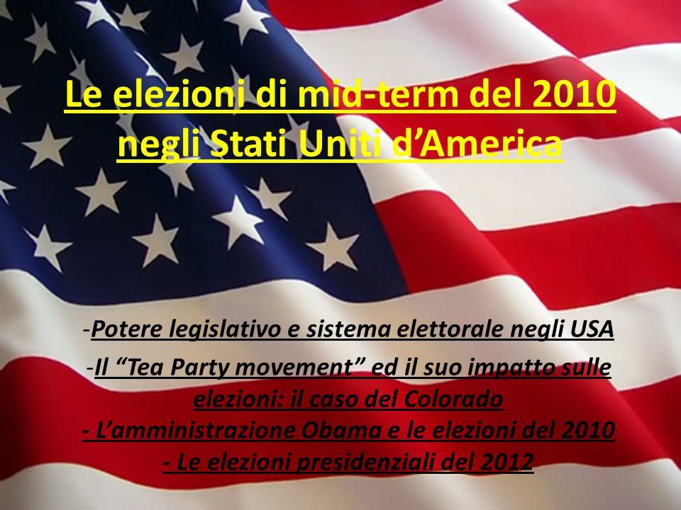 Le elezioni di mid-term del 2010 negli Stati Uniti d'America
