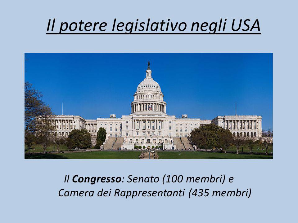 Il potere legislativo negli USA