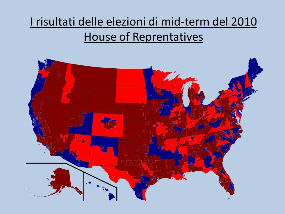 I risultati delle elezioni di mid-term del 2010 House of Reprentatives