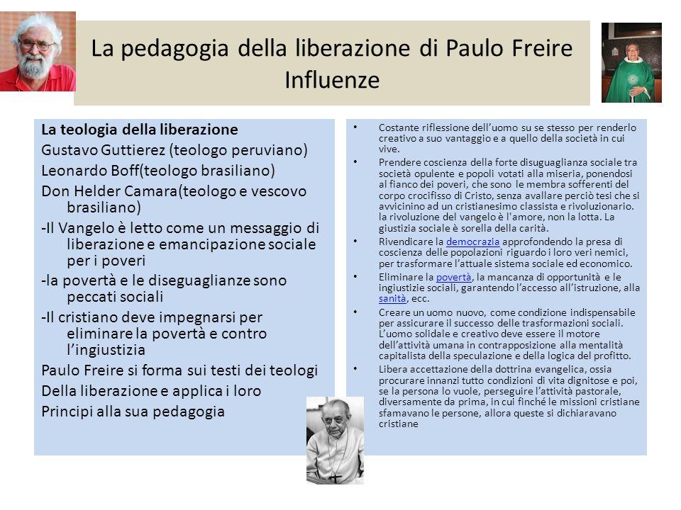 La pedagogia della liberazione di Paulo Freire Influenze