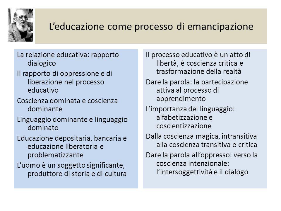 L'educazione come processo di emancipazione