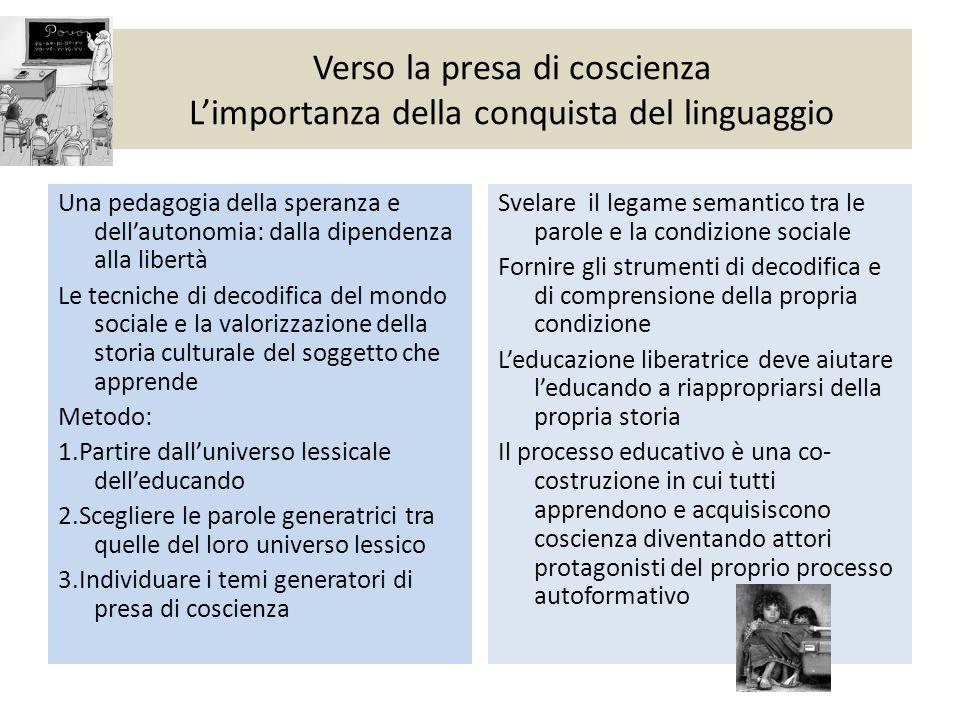 Verso la presa di coscienza L'importanza della conquista del linguaggio