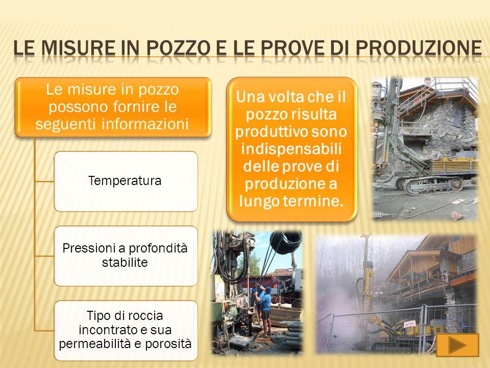 Le misure in pozzo e le prove di produzione