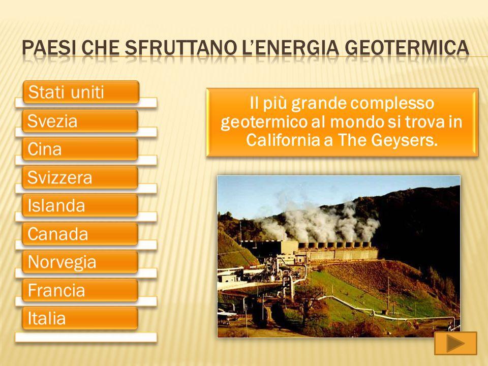 Paesi che sfruttano l'energia geotermica