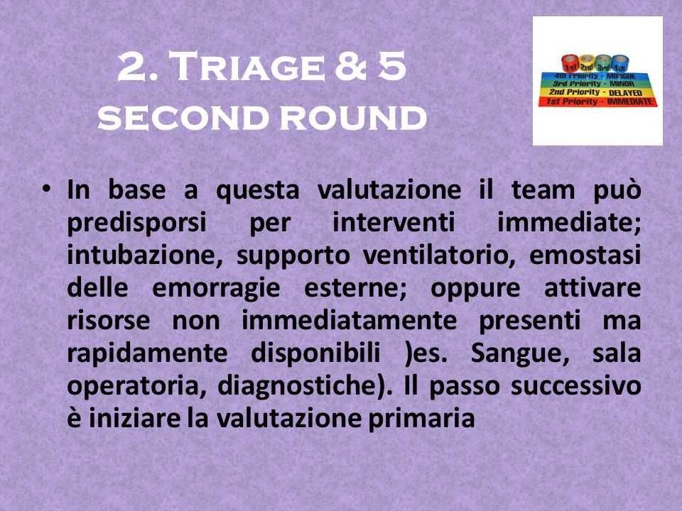 2. Triage & 5 second round