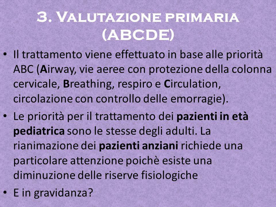 3. Valutazione primaria (ABCDE)