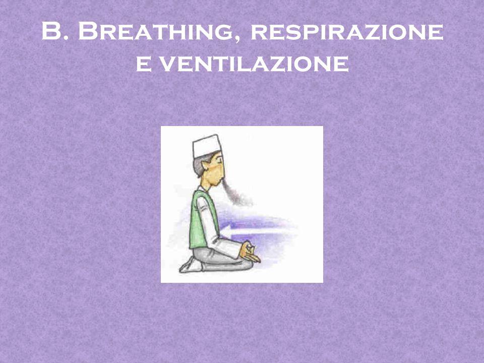 B. Breathing, respirazione e ventilazione