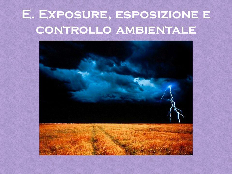 E. Exposure, esposizione e controllo ambientale
