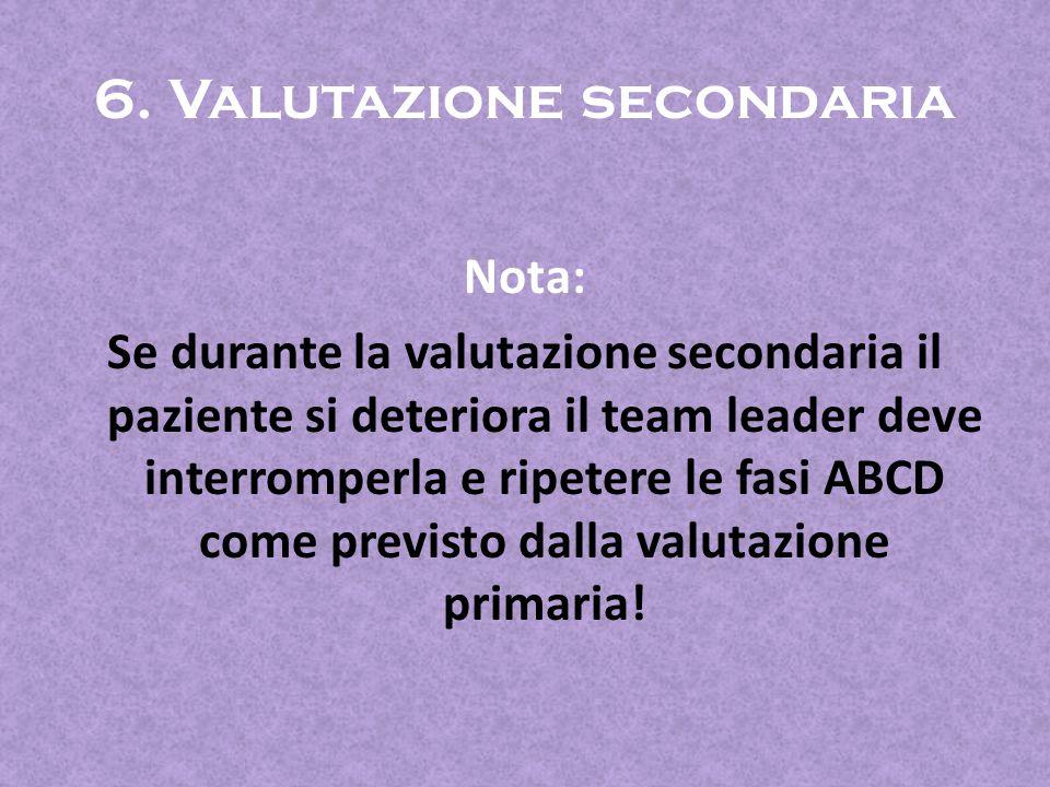 6. Valutazione secondaria