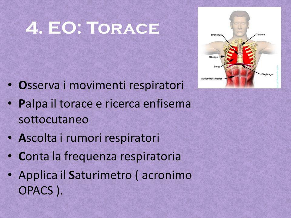 4. EO: Torace Osserva i movimenti respiratori