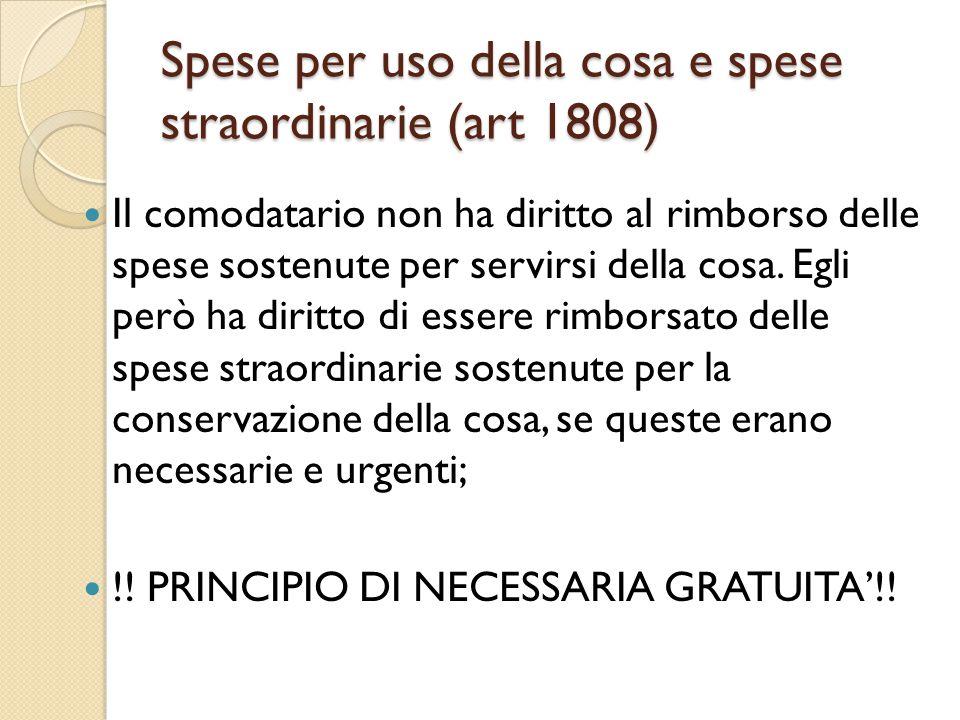 Spese per uso della cosa e spese straordinarie (art 1808)