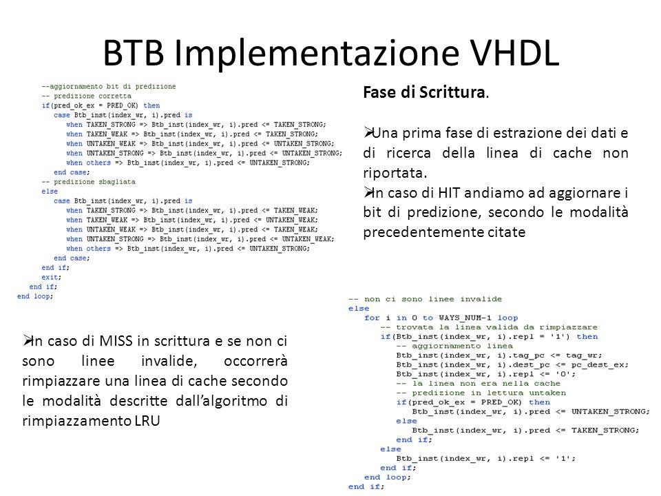 BTB Implementazione VHDL