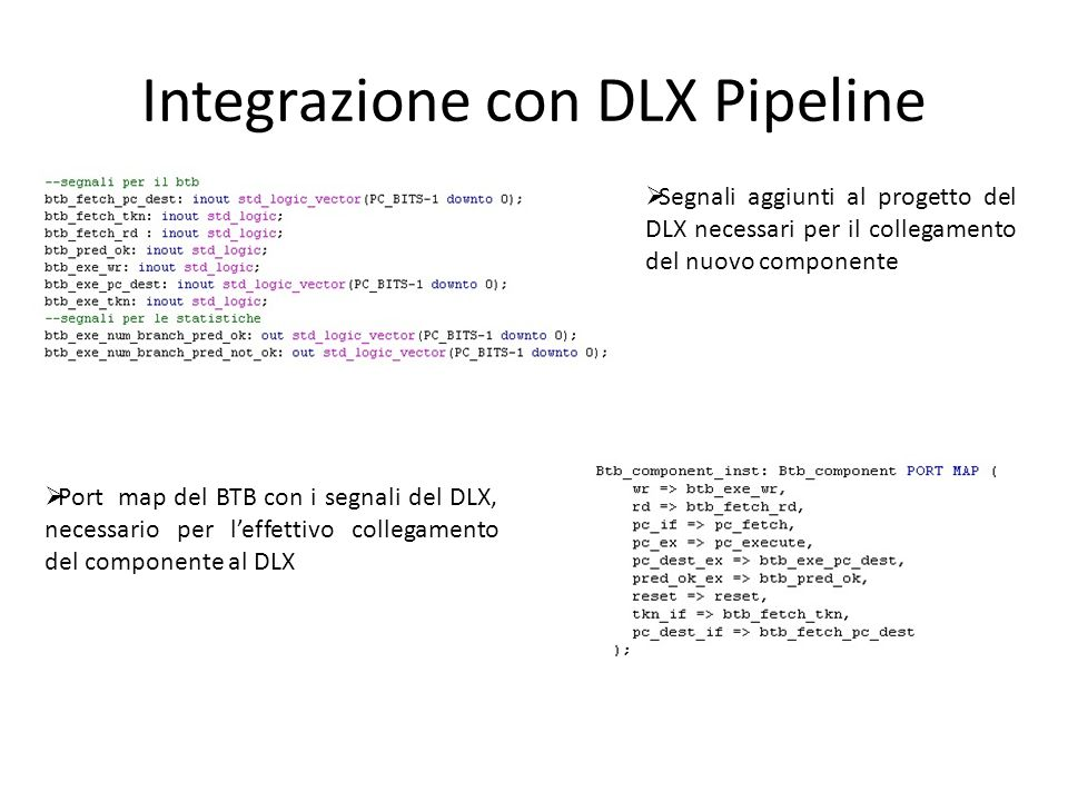 Integrazione con DLX Pipeline