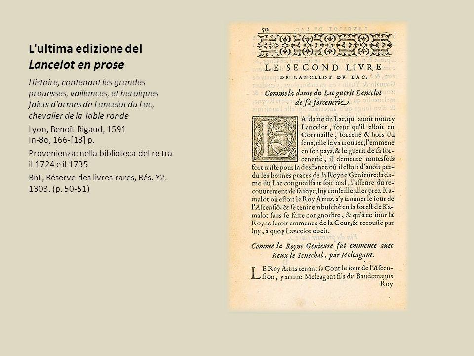 L ultima edizione del Lancelot en prose