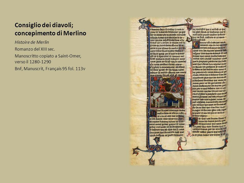 Consiglio dei diavoli; concepimento di Merlino