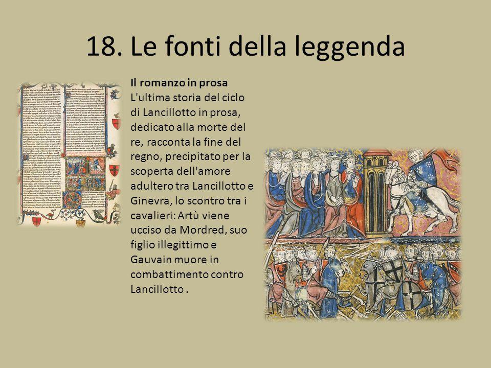 18. Le fonti della leggenda