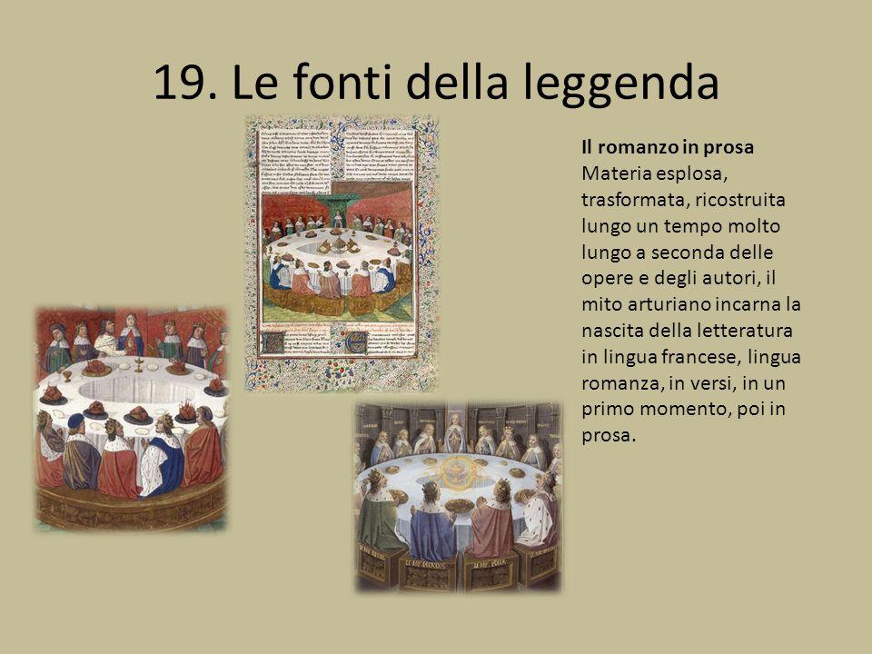 19. Le fonti della leggenda