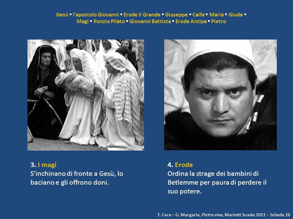 Magi  Ponzio Pilato  Giovanni Battista  Erode Antipa  Pietro