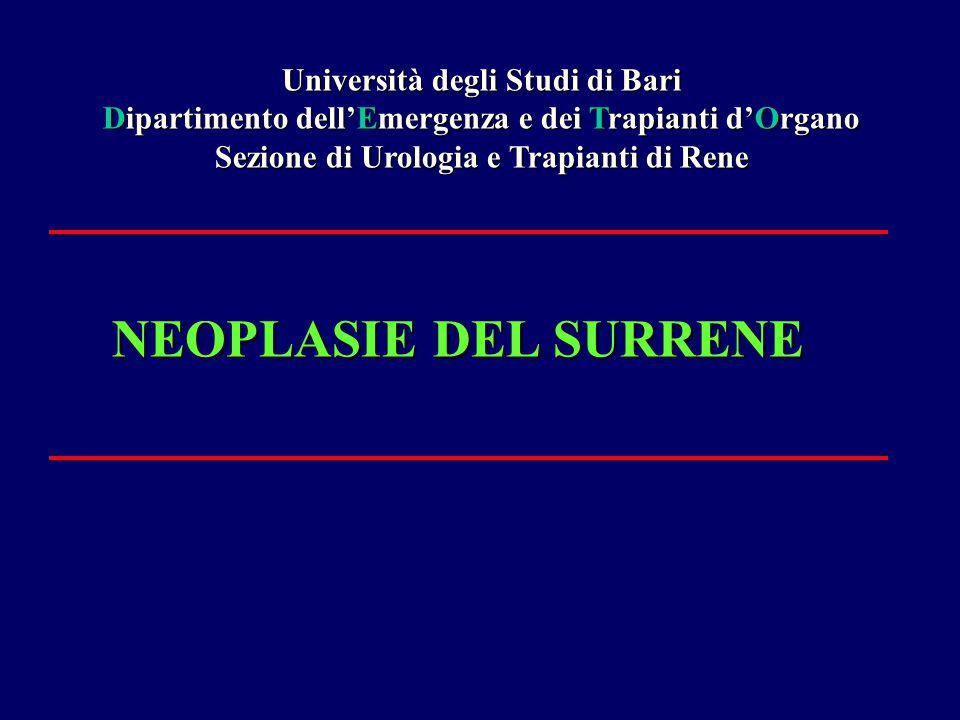 NEOPLASIE DEL SURRENE Università degli Studi di Bari