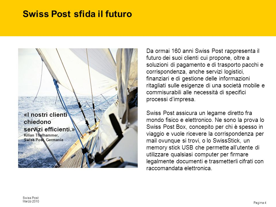 Swiss Post sfida il futuro
