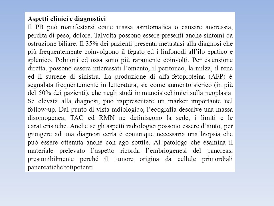 Aspetti clinici e diagnostici